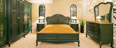 Butik Bedroom Set Green