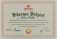Modoko Security Certificate